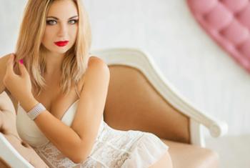 Heisse Blondine