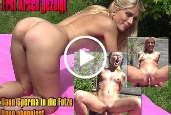 Geile-Blondchen: Erst Arsch gezeigt