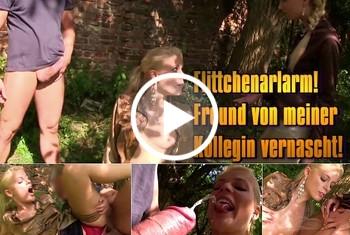 Geile-Blondchen: Flittchenarlarm! Freund von meiner Kollegin vernascht!