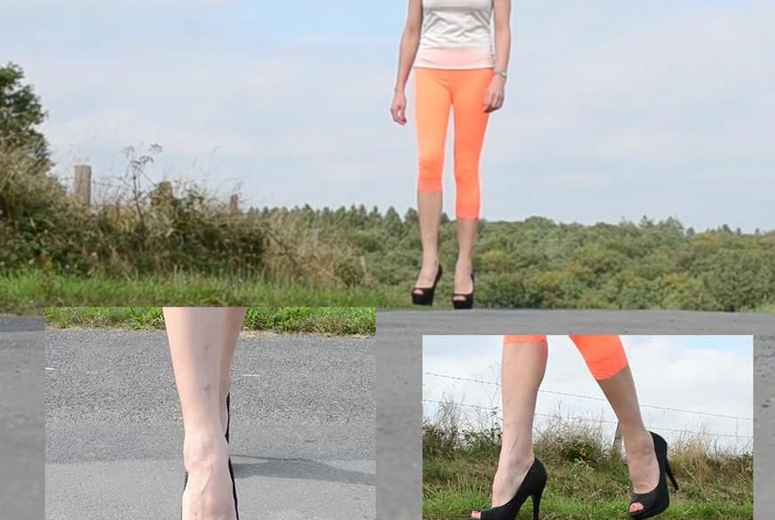 Sexy Walk in High Heels