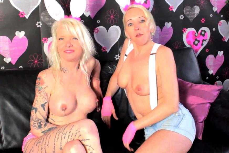 2 Bunnys auf Ostereiersuche