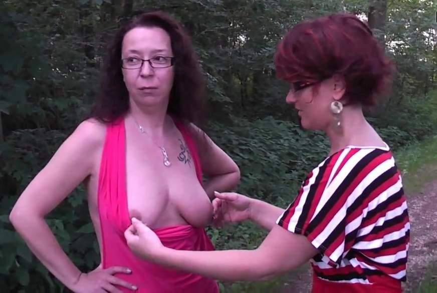 Mit Freundin zwei Typen im Wald g*****t