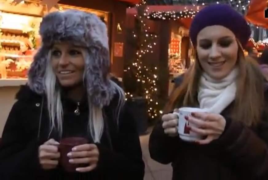 2 frivole F***en aufm Kölner Weihnachtsmarkt