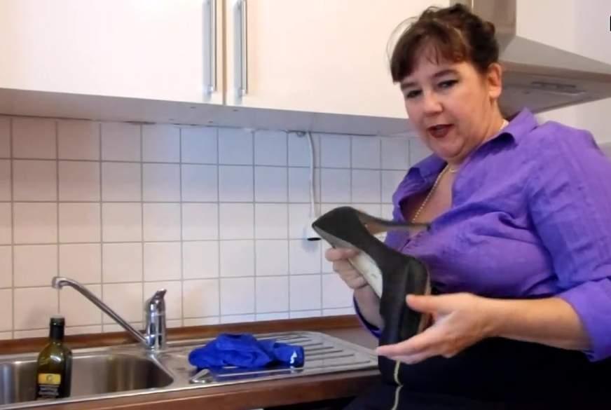 In der Küche geil geworden
