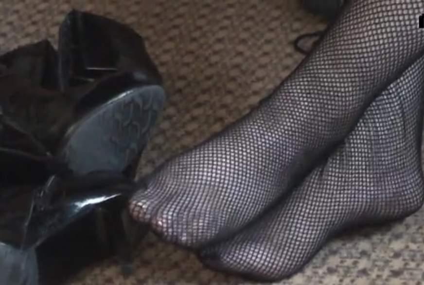 Bestrumpfte Füße