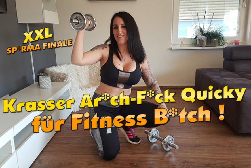 Krasser A***h F**k Quicky für Fitness-B***h ! XXL S****a Finale !!!