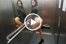 Riskanter Fahrstuhl F**k!!! Hättest du dich getraut?
