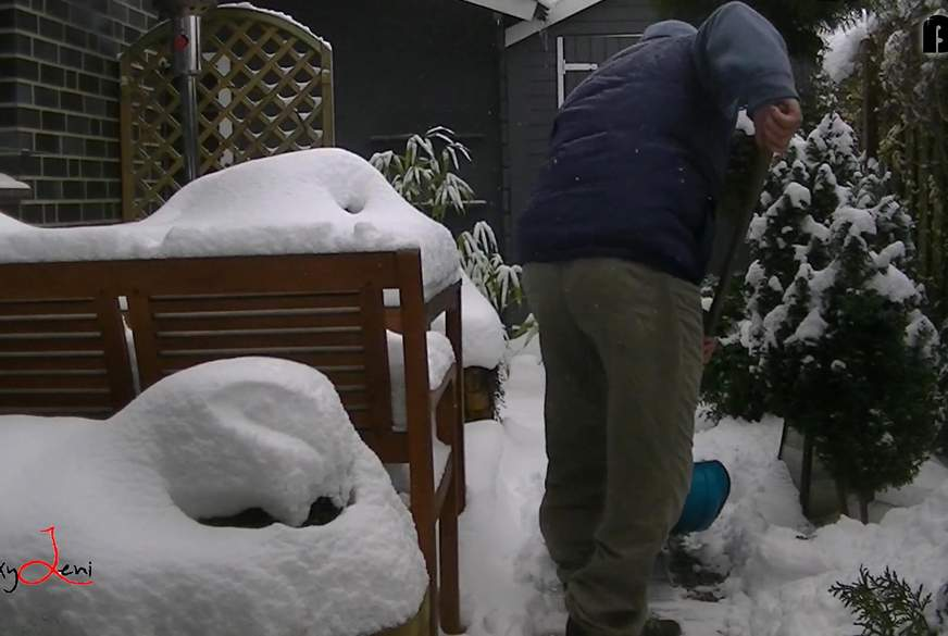 Mit dem Schwager im Schnee g*****t