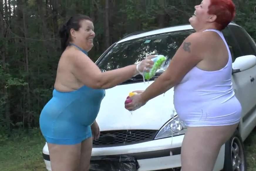 Sexy L***en, waschen Auto 1