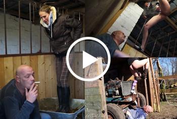 MaviePearl: Im Reitstall wird nicht geraucht! Kippe Ausgepisst