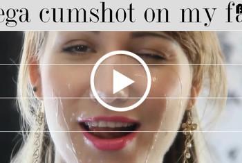 Mega cum shot auf meinem Gesicht