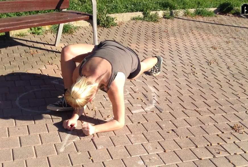 Stretching im Park