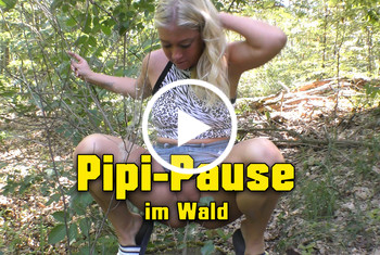 Lucy-Sweet: Pipi-Pause im Wald
