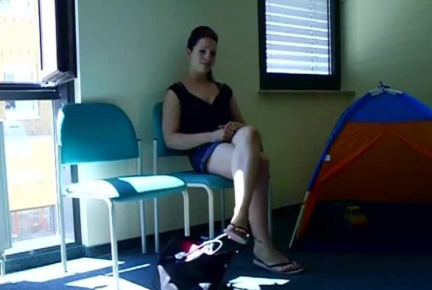 im wartezimmer beim Frauenarzt