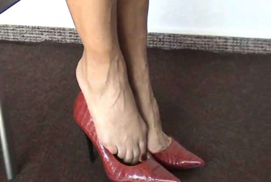 High- Heels in Rot!