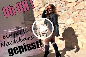 JuliettaSanchez: Oh oh - Einfach in Nachbars Hof gepisst