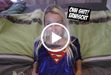 V**********te Superwoman im Bett erwischt