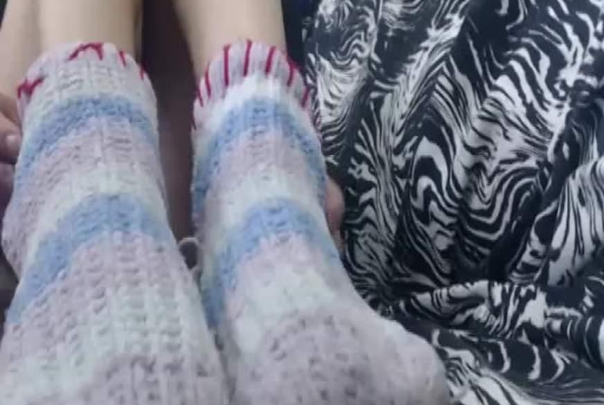 Füße lackieren