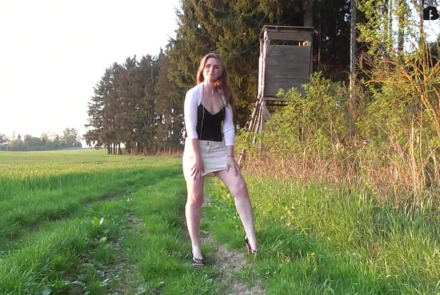 Mein erstes Outdoor P**s-Video !!!