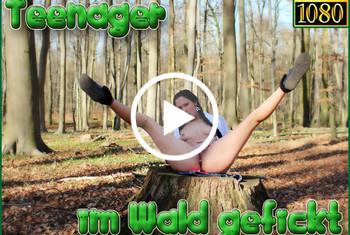 Teenager im Wald gefickt