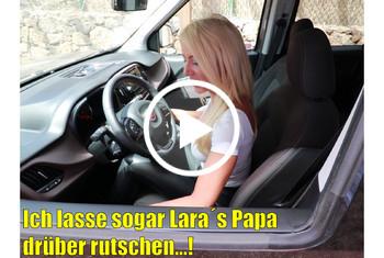 Daynia: Ich lasse sogar Laras Papa drüber rutschen! XXL 3LochSpermaPissFick!