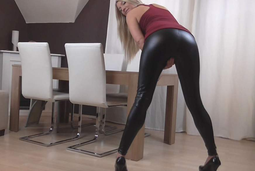 Lack-Leggings-F**k mit S*********e!