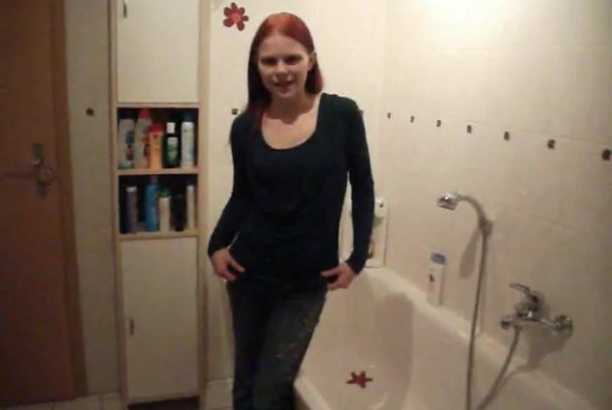 beim duschen bis zum o******s g*******t