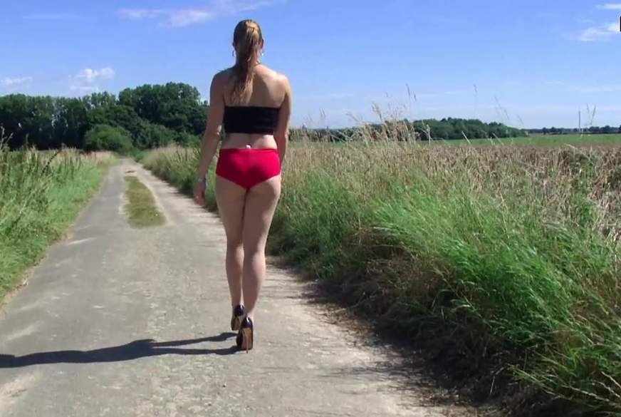 Red Shorts over Skin Colour Seamless