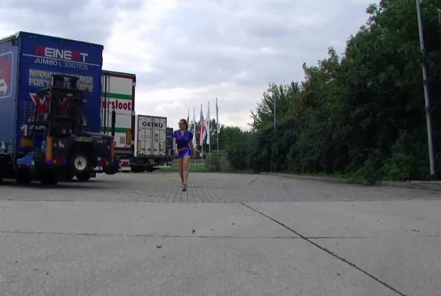 Trucker Parkplatz