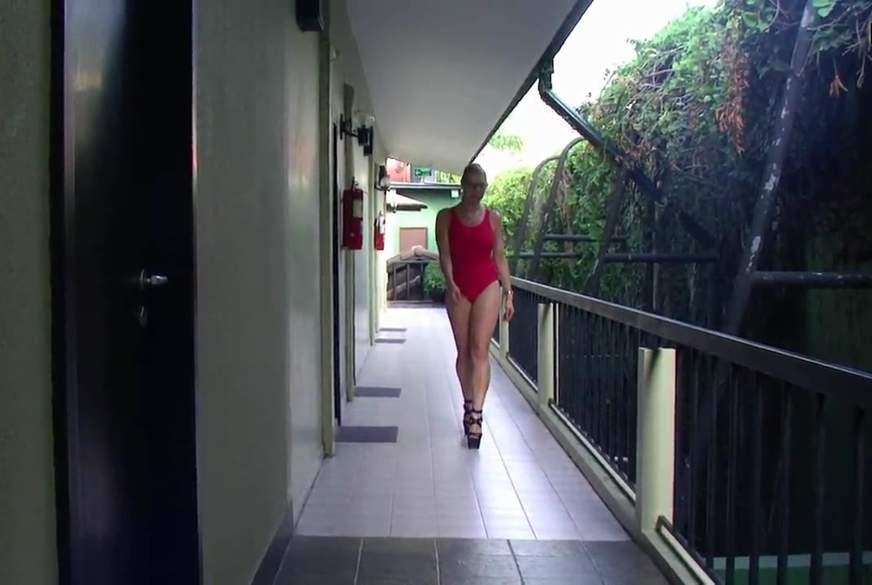 Long Legs in Swimsuit