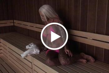 Mein 1.Sauna-Besuch! Öffentlich g*****t!!