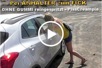 LissLonglegs: Per Anhalter zum Fick-Ohne Gummi reingespritzt-PissCreampie