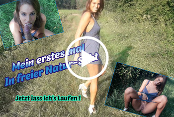 ChristyLey: Mein erstes mal in freier Natur-Sekt !!