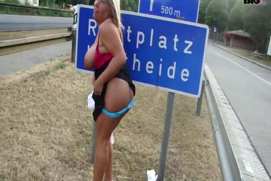 Autobahn- Flashing für die LKWs