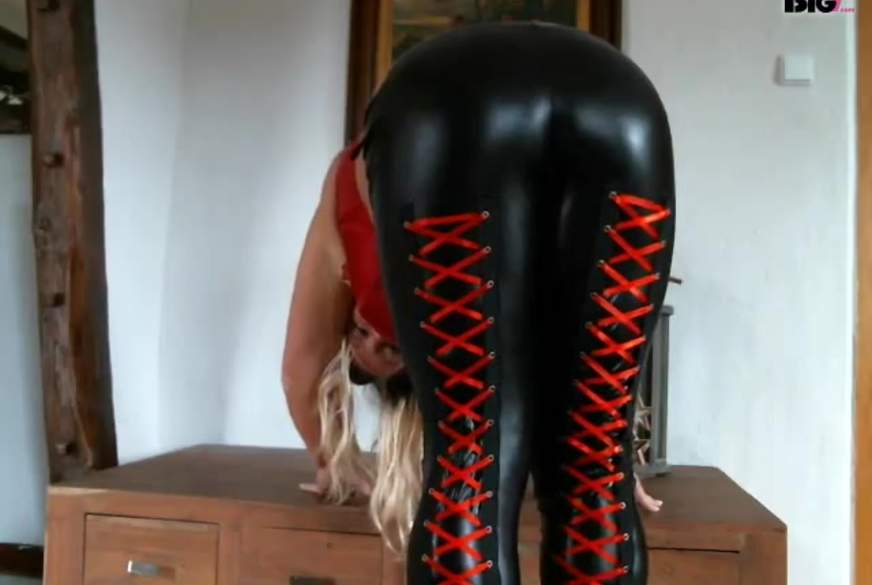 ******** M**f in Latexlook Leggings ***********