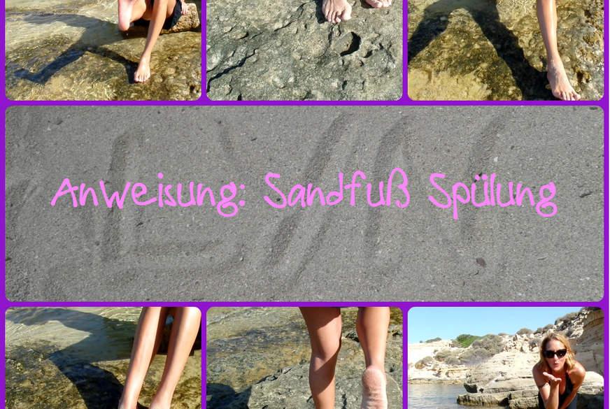 Anweisung: Sandfuß-Spülung