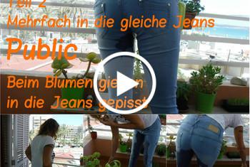 lyn: Public. Beim Blumen gießen in die Jeans gepisst