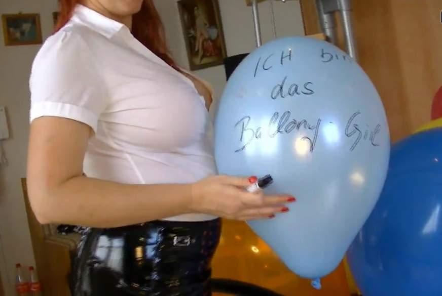 ich bin das Ballony Girl