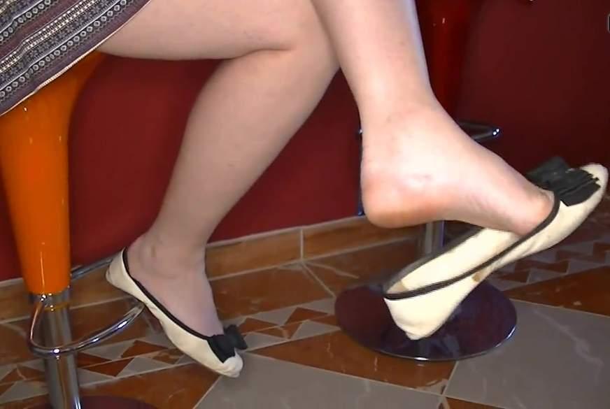 Reizvolles Schuhwippen