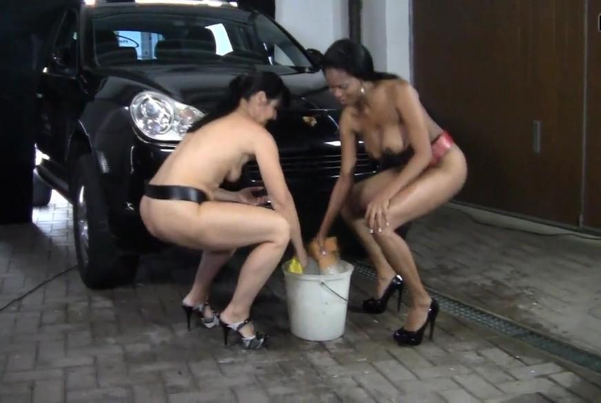 Nacktautowasche von Schokobebe und Eheh**e Angi
