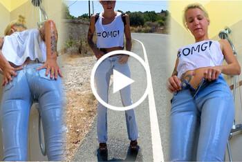 Sofie-Steinfeld: Das erste mal !! Jeans Piss, Jeans-Dusche und nem feuchtem Orgas