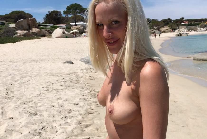 S****a statt Sonnencreme - TITTEN-B******g PUBLIC am Strand