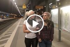 Dreister PUBLIC PISS im Hauptbahnhof - Natursekt Quelle direkt am Bahnsteig