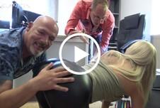 Leggings F****tÜCK - Bei mir im Büro darf jeder mal drüber rutschen