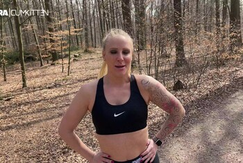 Outdoor F***treffen beim joggen - XXL Eiweiss Shake GEs******t