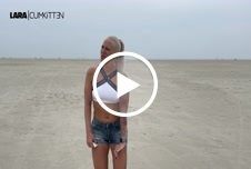 PISS on the beach - PUBLIC NS am Nordsee Strand