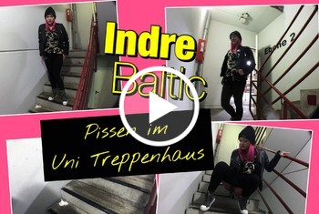 IndreBaltic: OMG - Studentin pisst frech im Uni-Treppenhaus