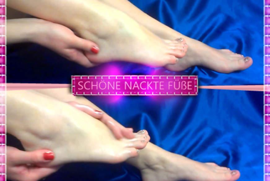 Schöne nackte Füße