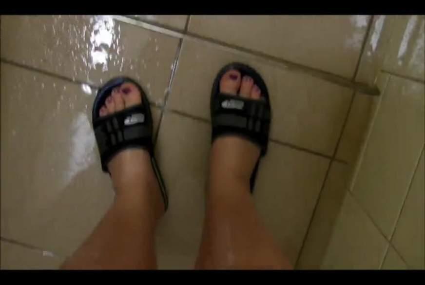 Füße geduscht Öffentlich-Outdoor