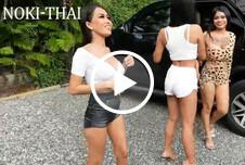 Noki-Thai - Gruppensex mit einem Ausländer - Foursome Sex